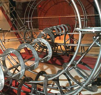 "Bowler Coaster ""Darrell Tousley kinetic sculpture Autism Savant"""