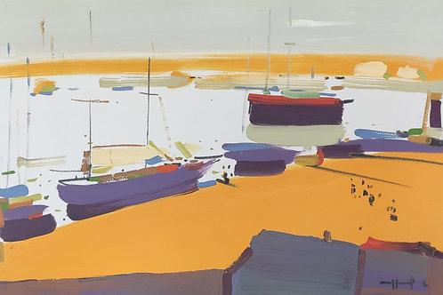 Бретонский берег. Яхты