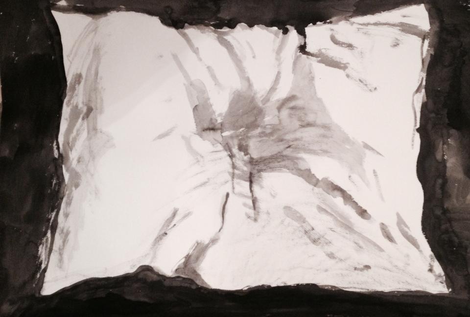18 Белая  подушка 70х90
