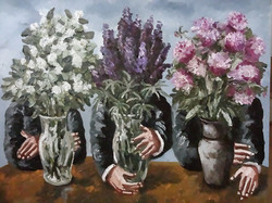 N. Nesterova. Vase with flowers.