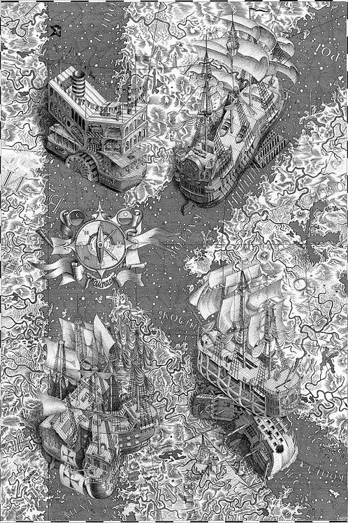 К - Компас, корабли, космические карты