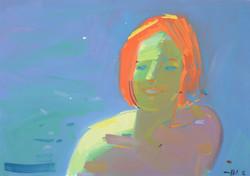 Девочка с рыжими волосами 2016 б см техн 42х62(40т)