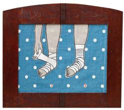 Liza Olshanskaya. Foot binding
