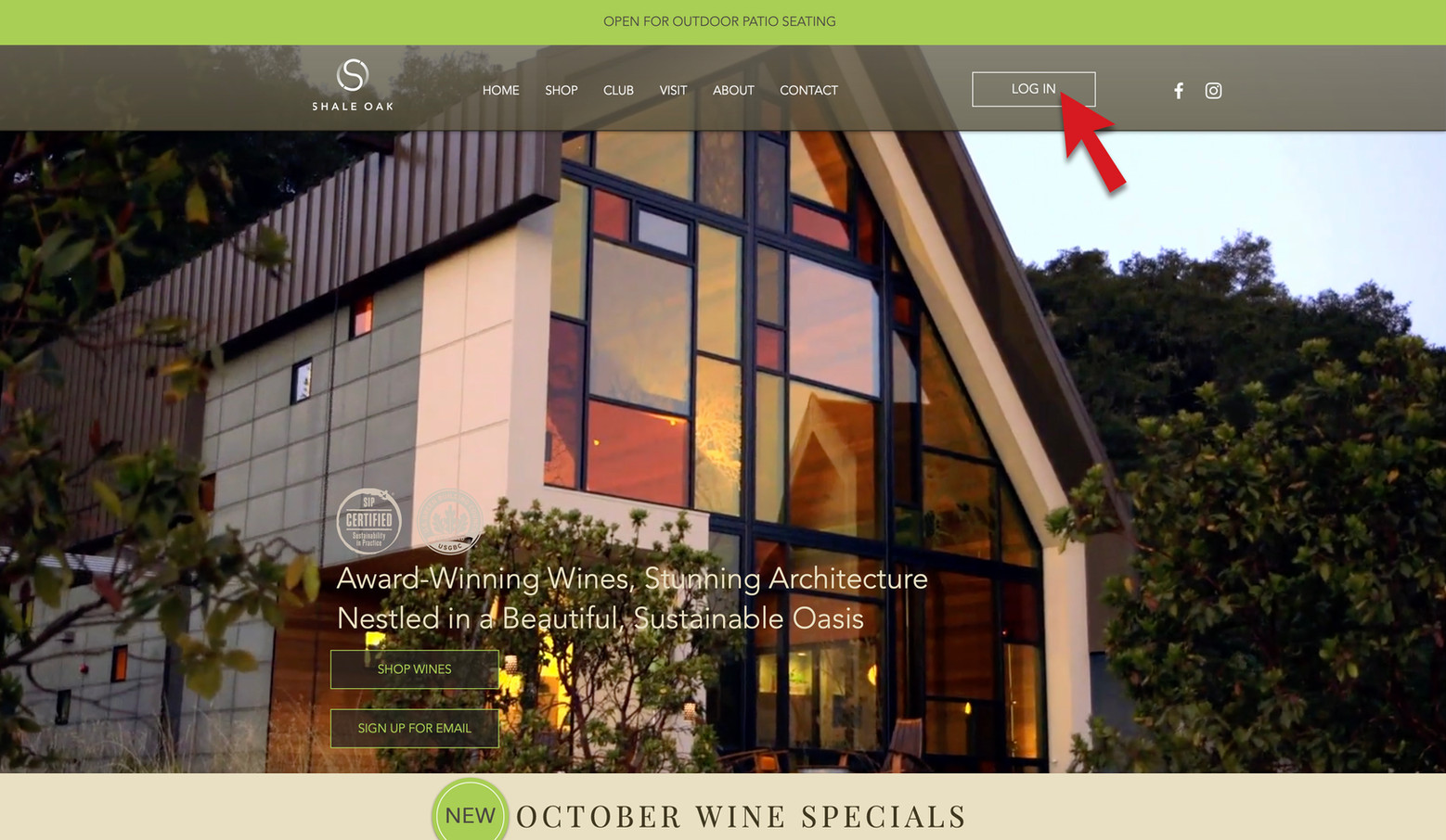 """Membership Login - If this is your first time logging on to the new Shale Oak website, you will need to set a password. Please note that some members that have previously logged in to the new website, may need to reset their password since new software was updated October 5, 2020. Go to the """"Sign In"""" button at the top right of the Home Page."""