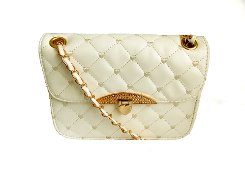 Quilted Handbag White
