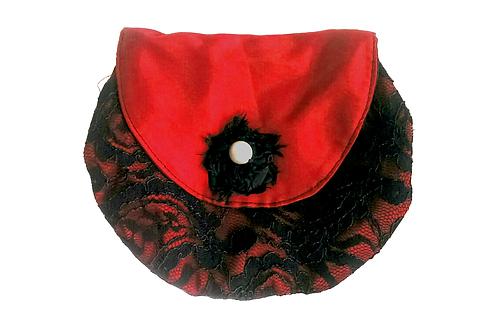 Red and Black Vintage Lace Handbag