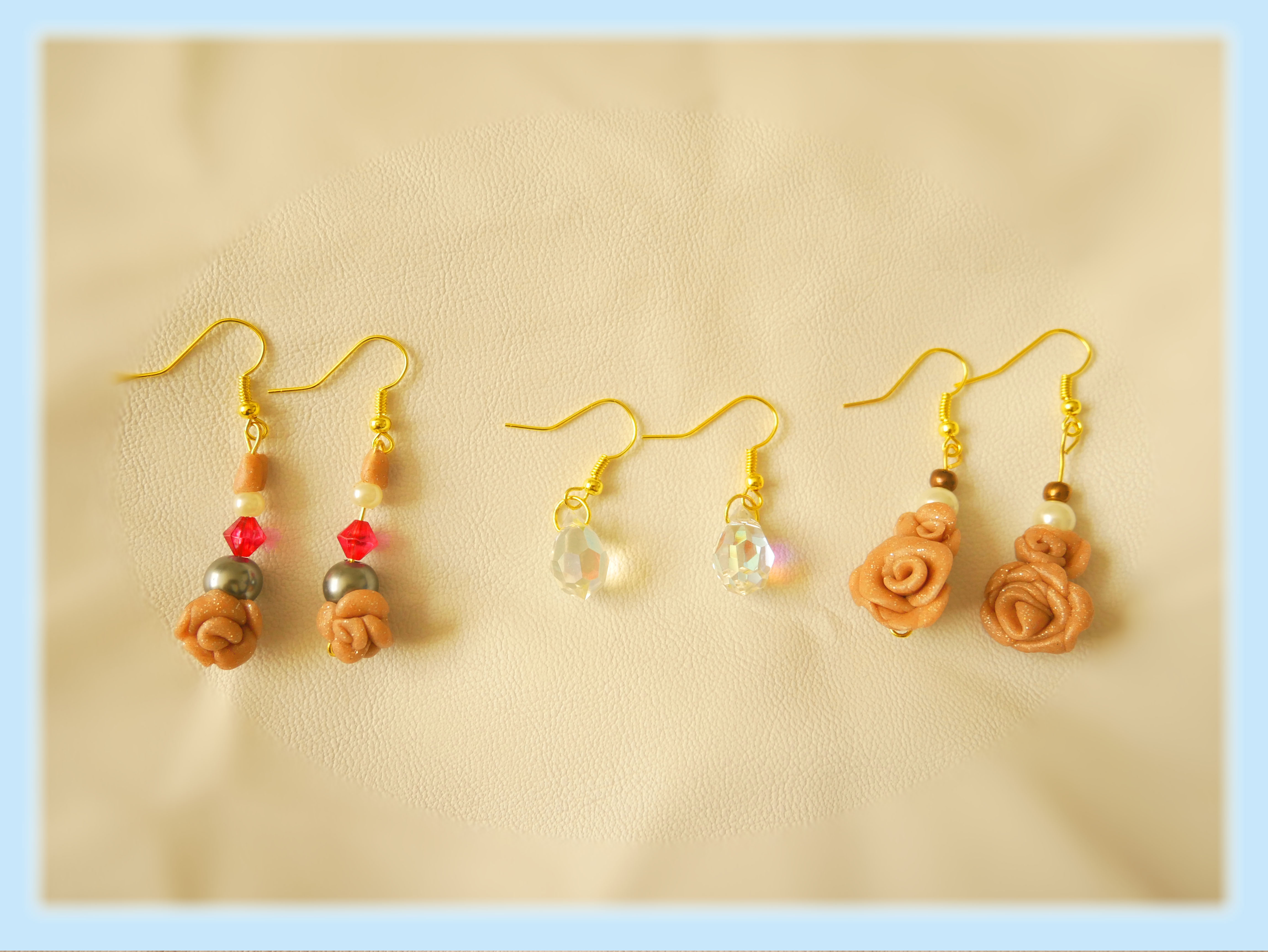 Roses and Crystals Earrings