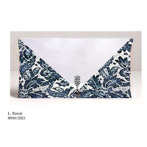 Monochrome Lace Handbag