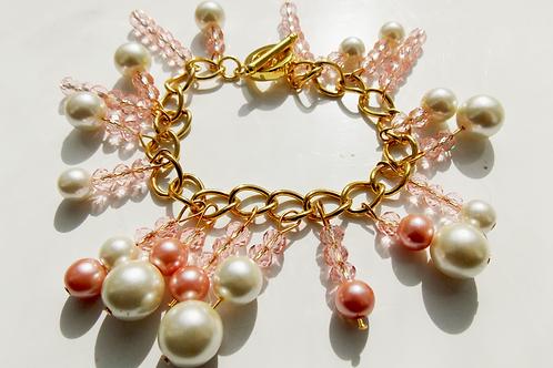 Peach Crystal Bracelet