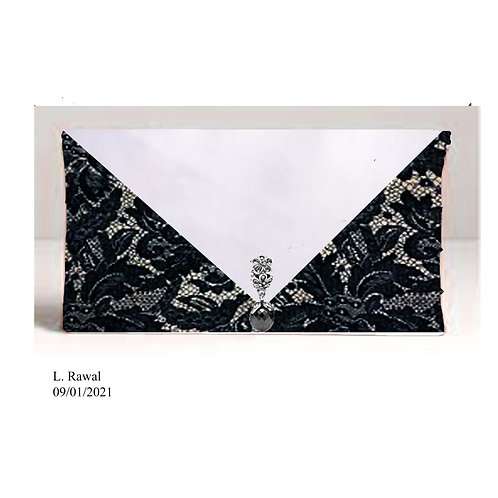 Dark Lace Envelope Bag