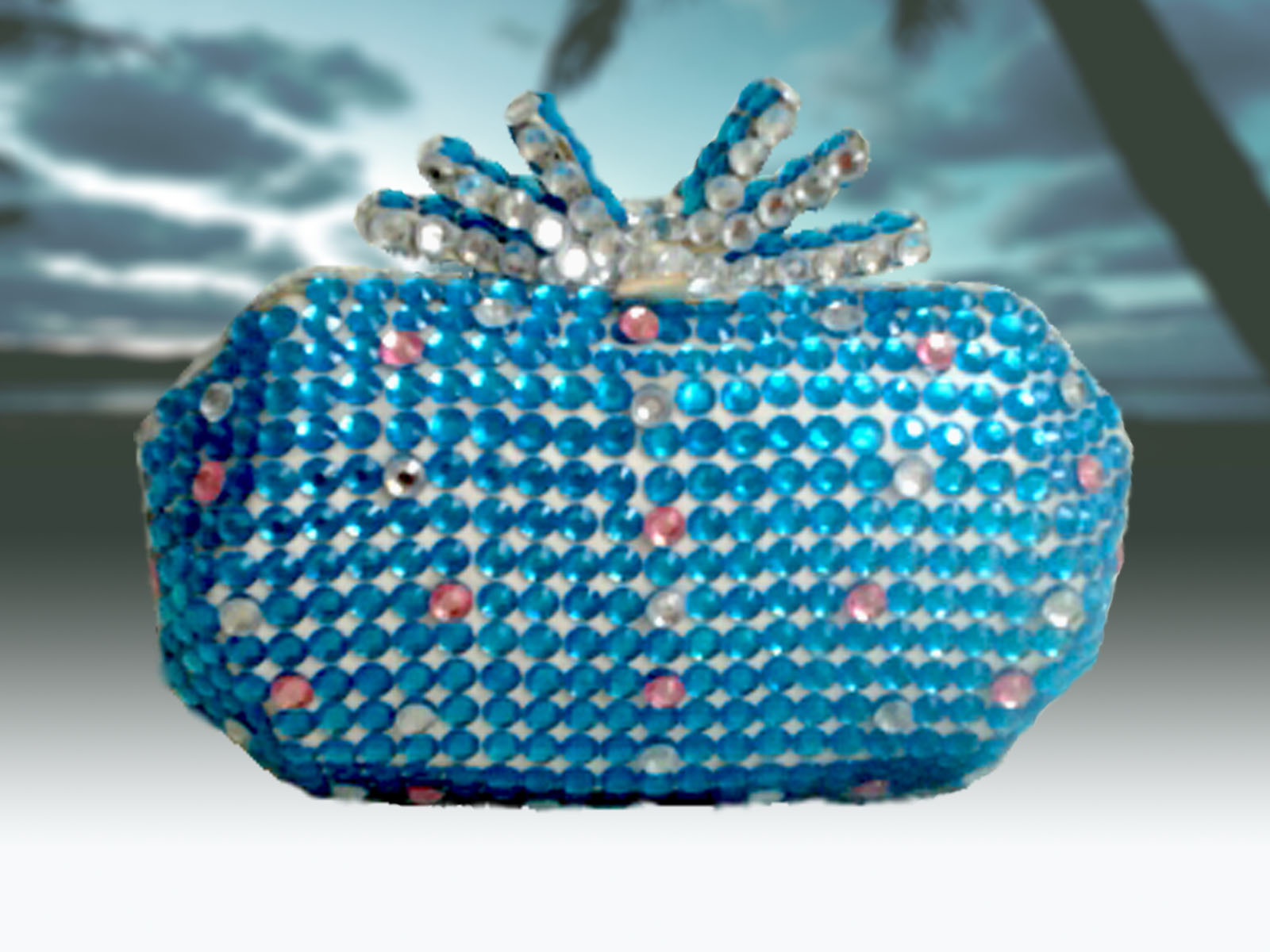 Blue Lagoon Beach Clutch Bag