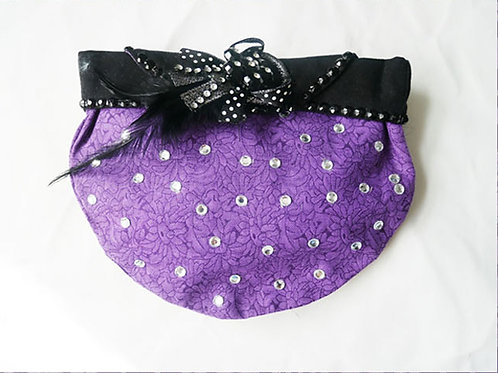 Vintage Purple Cosmetic Handbag