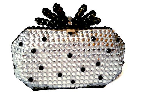Angel Dream Range- Silver Noir Clutch Handbag