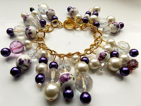 Rose Garden Purple Bracelet