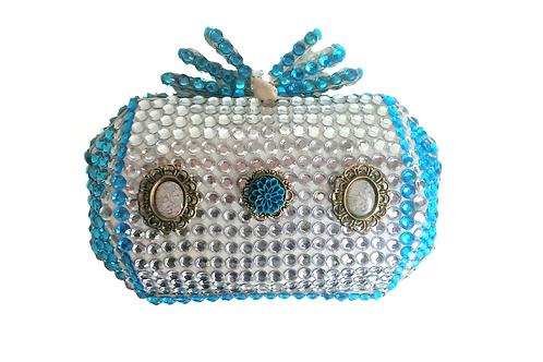 Angel Dream Range-Blue Rose Clutch Handbag