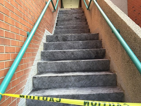 concrete stairs repaired