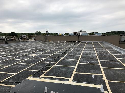 flat roof levelling