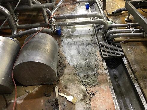 utility room concrete crack repair