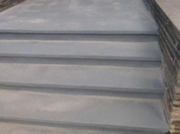 concrete steps parged