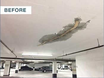 concrete ceiling crack