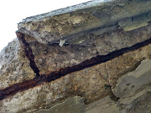 broken balcony surface