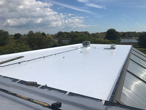 UV protection for flat roofs