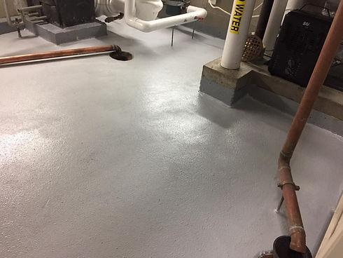 mechanical room floor waterproofing