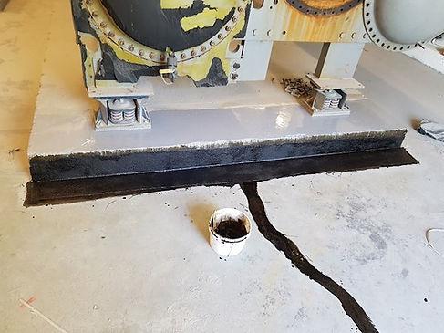 utility room floor crack repair