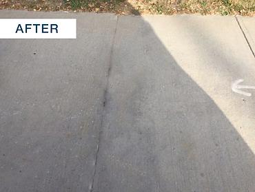repaired concrete sidewalk
