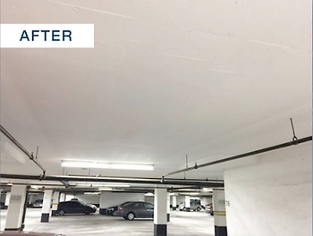 concrete ceiling crack repaired