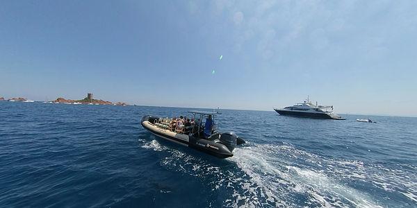 Sortie en bateau aux îles de Lérins