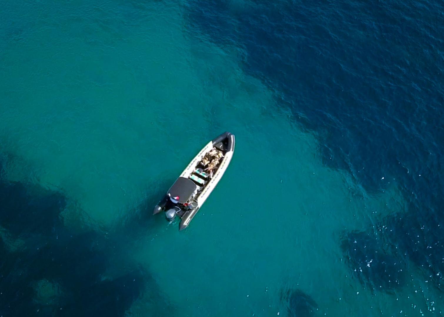 Saint Raphael's boat with Sea you sun