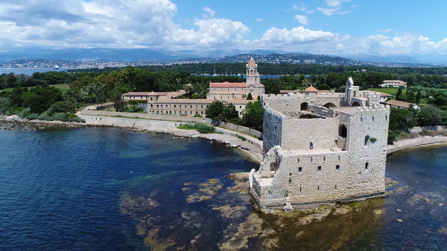 Aerial view of Sainte Honorat