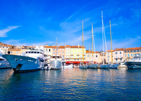 visit of the port of saint tropez by boat