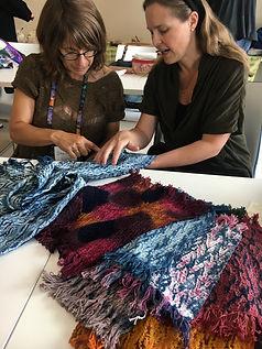 Members weaving
