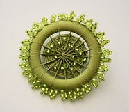 Small Chartreuse Button