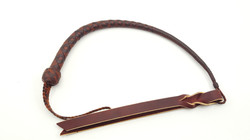 Whiskey and Saddle Tan 12 Plait Western Quirt