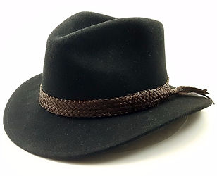10 Plait Kangaroo Hide Plaited Hat Band