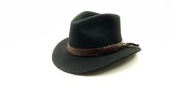 10 Plait Hatband Brandy1
