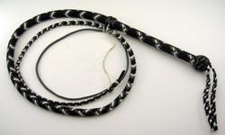Black grey & White 6ft Nylon Bull Whip