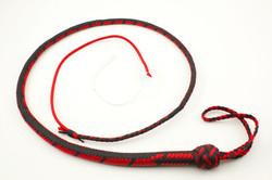 Black & Imperial Red 4ft Nylon Snake Whip