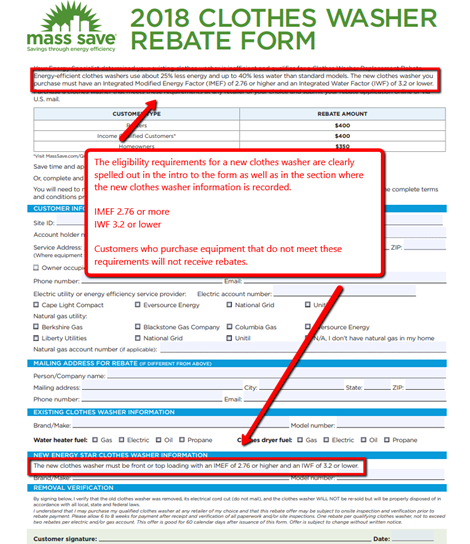 Washing Machine Rebate Eligibility Requirements