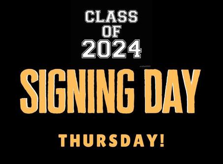 8th Grade T-Shirt Signing