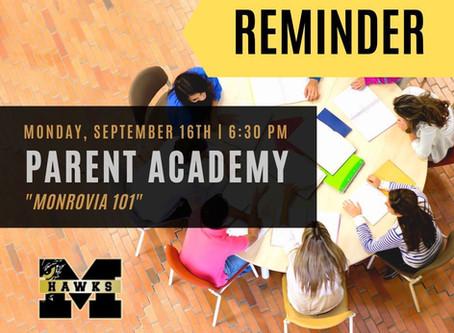 MMS Parent Academy: Monrovia 101