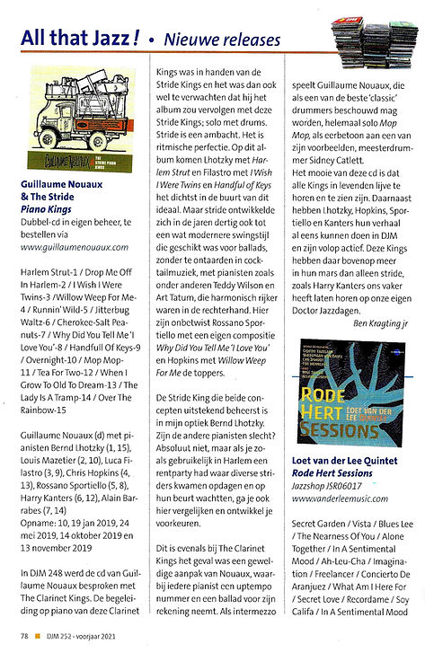 Dr Jazz Magazine - review Piano Kings.jp