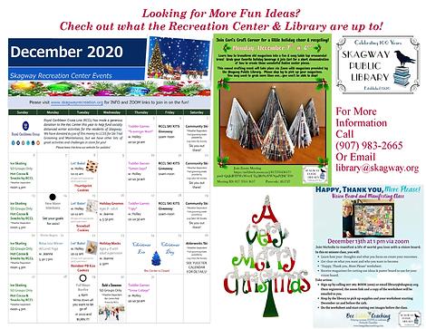 December 2020 Holiday Activity Calendar