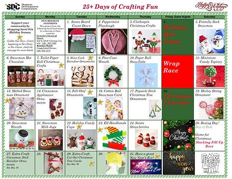 December 2020 Holiday Activity Calendar.