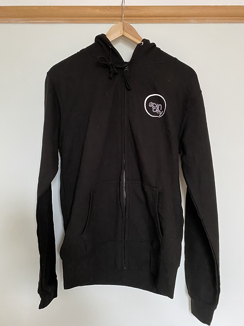 Black Spin City Zip-Up Hoodie
