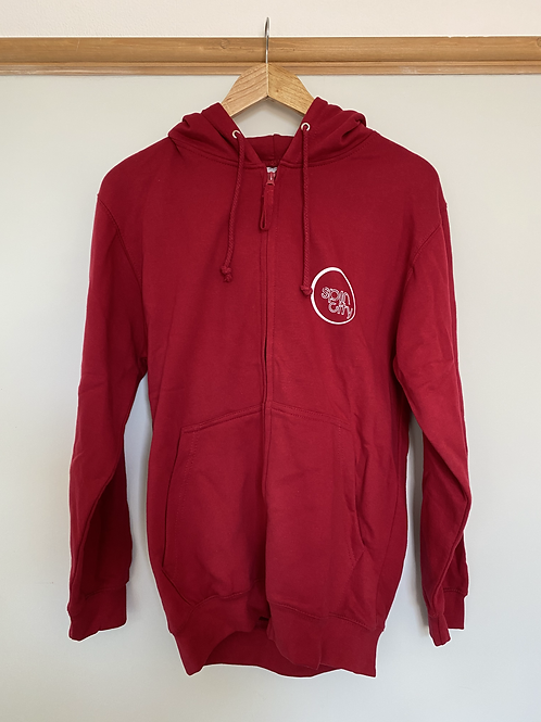 Red Spin City Zip-Up Hoodie