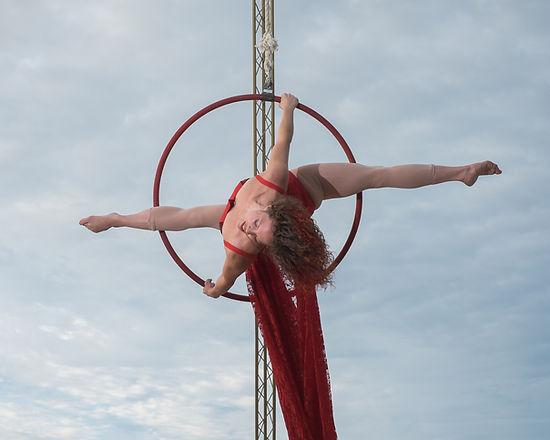 Woman aerial hoop